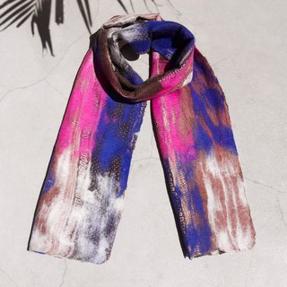 Tanabata gift limited to a handmade wool felt scarf / wet felt scarf / watercolor art sense of scarf / wool gradient layer of scarf - watercolor rendering color