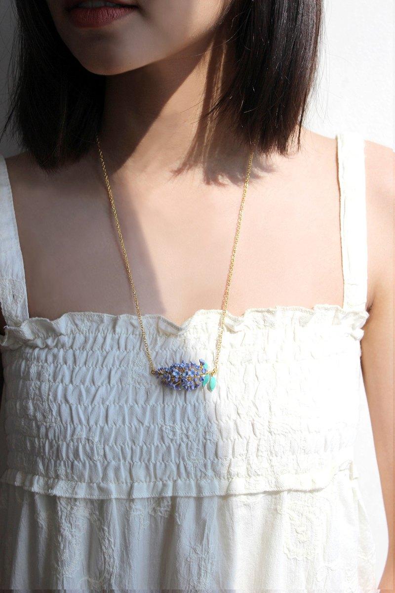 Lilac Necklace, Flower Necklace, Original Designs.