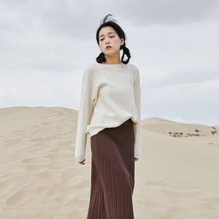 Anne Chen 2018 spring new women's shirt pattern knit pullover sweater