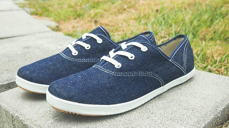 Adeia舒適 簡單 輕鬆 穿好鞋 牛仔布 深藍色帆布鞋