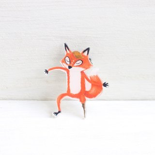 Fox dance Pin / Brooch I Lena & Forest Friends