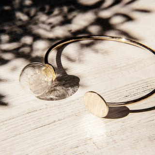 Valentine's Day Gifts Forest Geometry Design Glass Ball Golden Bracelet Bangle Bracelet - Dandelion