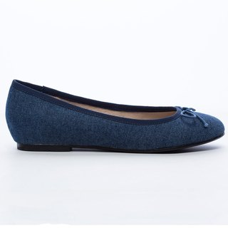 [Saint Landry] LAND tannins bow ballet shoes - deep blue