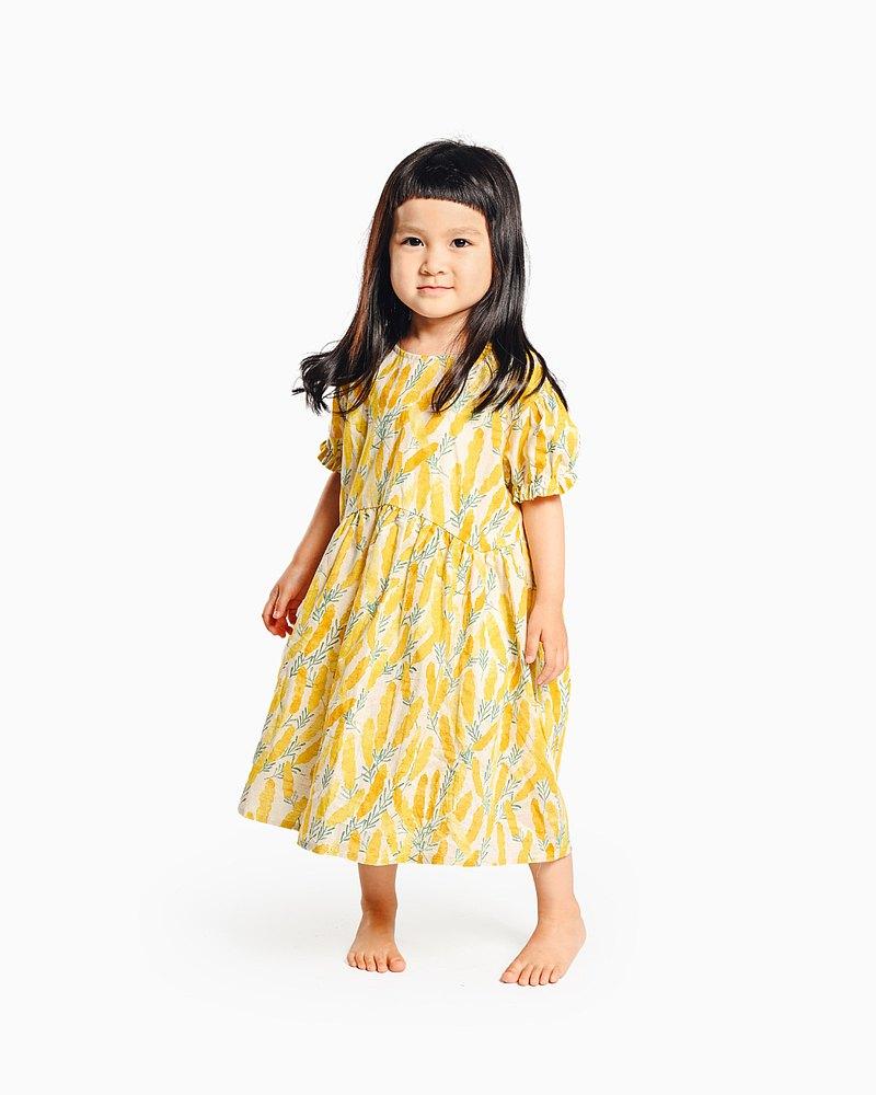 芒草娃娃連衣裙