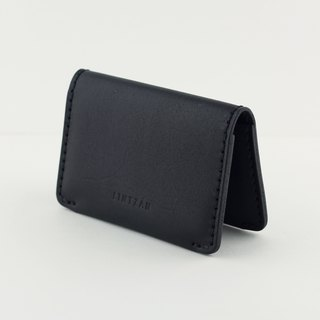 Classic 2 fold business card holder / card holder -- stone black