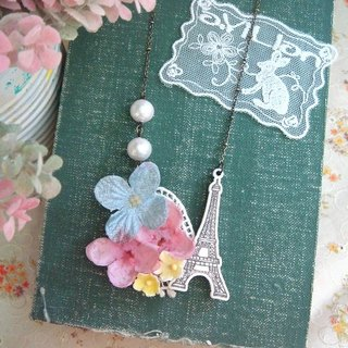 Garohands wind canvas cloth cotton Hydrangea pearl handle long-chain models A473 * Tower gift