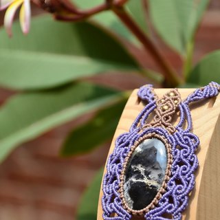Dendritic agate Macrame Necklace