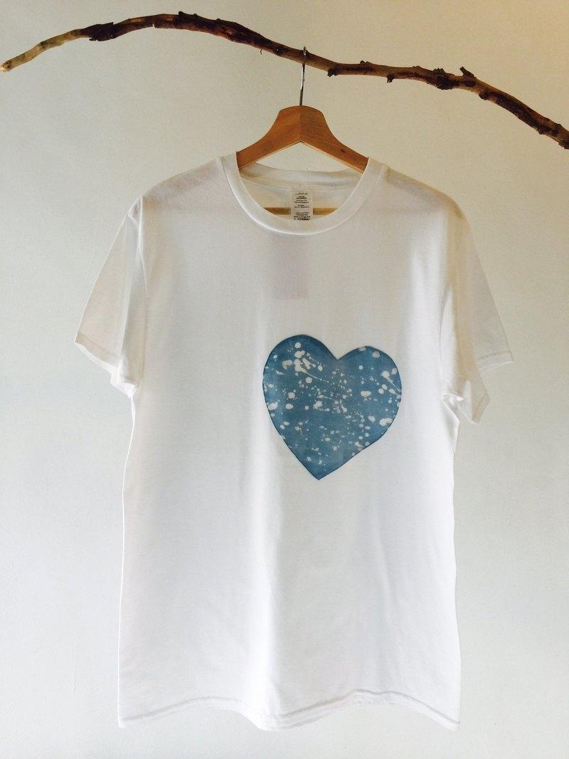 自在染isvara 手工藍染 宇宙系列 盛放   純棉T-shirt