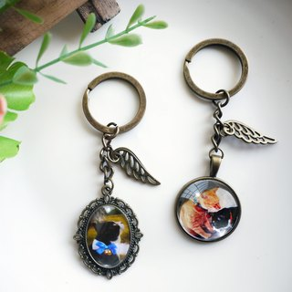 [Custom gem] Valentine's Day key ring - Eternal Angel models / 25mm / single-sided photo [Cherry Pdding]
