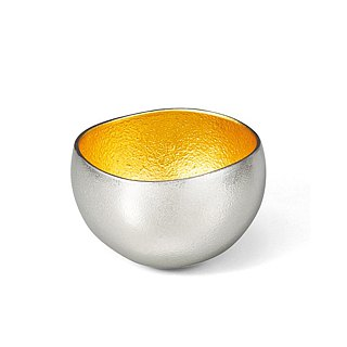 Pure tin gold foil swaying cup (S)