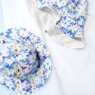 Lightweight wide-brimmed dome dome cap | Summer daisies