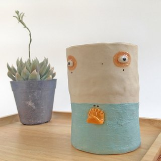 Duck ceramic pencil holder , ceramic cup, ceramic pot