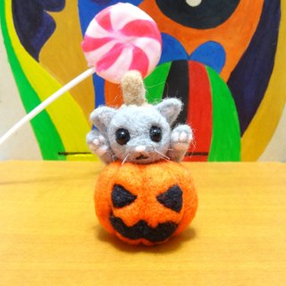 Halloween Jack's Pumpkin -Wool felt (key ring or Decoration)