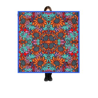 "Large Scarf/Sarong ""Sunflowers"" 140x140cm Limited Edition 250 pieces"
