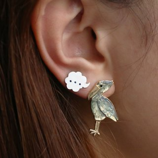 Japanese Handmade Ornaments - Whale Head Earrings