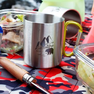 Wilderness Grizzly Double Insulated Stainless Steel Cup Amber Gold