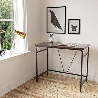 Simple linear wood desk
