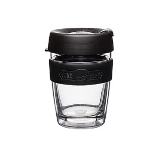 KeepCup LongPlay -Twin Wall Glass Cup M - Black