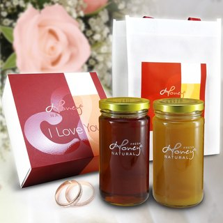 Angel Beauty: Honey Bee I Love You Honey Chun Zhu Ying Kapok flower honey pure treasure boxes into each bottle of 460 grams per bottle