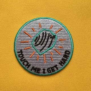 TOUCH ME I GET HARD iron-on patch