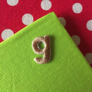 Lowercase English letters g-self-adhesive embroidered cloth stickers