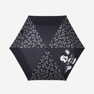 [Germany kobold] Disney officially authorized -6K rain and rain dual-use umbrella - black and white Mickey