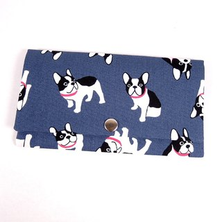Red envelope passbook cash storage bag - French Bulldog