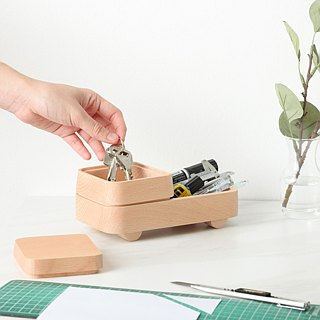 [New] Pana Objects Stacked Wooden Car - Storage Tray