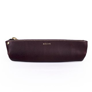 [Minerva]|Pencil Case S|Zipper Pouch Silver Kraft