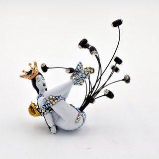 TIMBEE LO Secondary Creation Jewelry Wind Song Ji Queen Crystal Dress Heart Pin