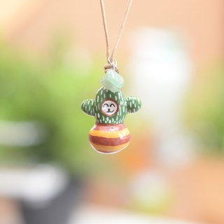 A super little cute baby cactus handmade necklace from Niyome Clay.