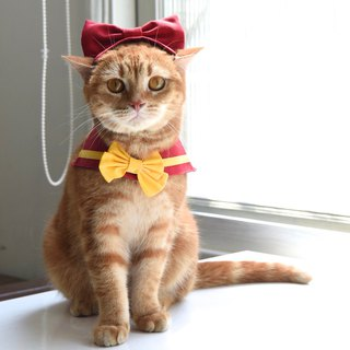 Retro microphone Letojanni Jun Wang meow lead from planet**attached bow tie hair band +**[ZAZAZOO]