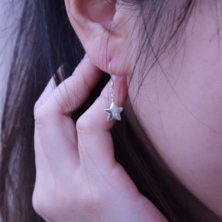 Cheng [the trip] stars hanging earrings. 925 sterling silver earrings