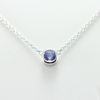 Hardwired | Ladies | Simple Style | 14K White Gold | Sapphire | Necklace