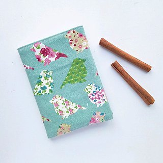 Book Cover (Pastel Green Birds)