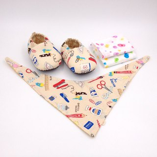 Stationery World - Miyue Baby Gift Box (toddler shoes / baby shoes / baby shoes + 2 handkerchief + scarf)