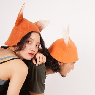 Ke people original handmade hats men and women general autumn and winter creative fox hat wool felt wet fence Sen Department of pastoral props