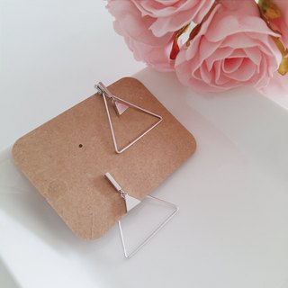 Simple geometric shape triangle personality earrings