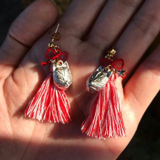 [Lost and find] Inari Shrine Fox Earrings