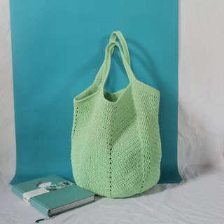 Lime Tote bag ,Market bag ,Crochet bag ,Shopping bag