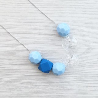 Sky Blue Pastel Glass Ball Necklace Wedding Bridesmaid gift
