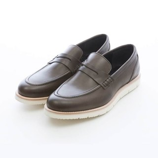 ARGIS ultra lightweight monochrome penny loafers #31118 gray green - Japanese handmade