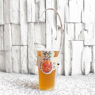 Modeling accompanying beverage cup set bag - Pineapple Wang Laiwang