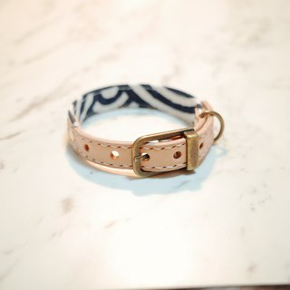 Dog collars, S size, Deep blue wave_DCK090401