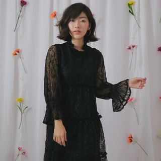 Vivian lace dress (black)