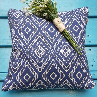 Nordic style characteristics of national style blue geometric pattern pillow / cushion