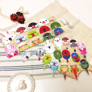 Rolia's hand made parrot waterproof sticker (set B-14 full set)