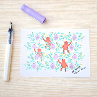 Garden Collection-Sweety Bear postcard / buy 3 get 1