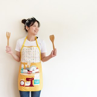 La la la [paternity] Happy Together Apron (adult section) / limited hand / kitchen baking a good thing