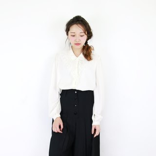 Back to Green::Stylish shirt with a romantic lace cutout//vintage shirt//
